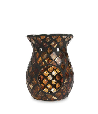 Black & Gold Mosaic Wax Melt Warmer - From Heart and Home