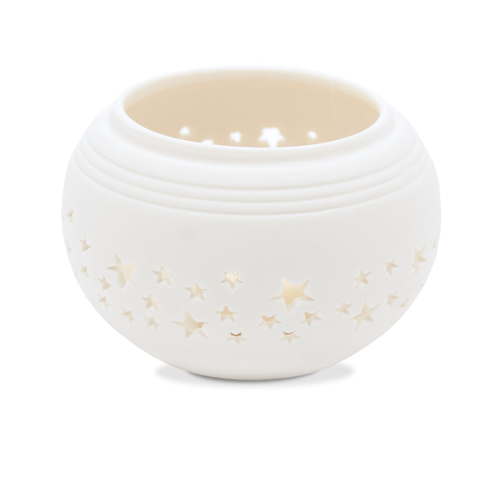 Winter Ceramic Tealight Holder 2015 - From Heart and Home