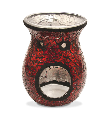 Winter Red Mosaic Wax Melt Warmer 2015 - From Heart and Home