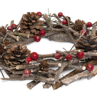 Winter Candle Table Wreath 2015 - From Heart and Home