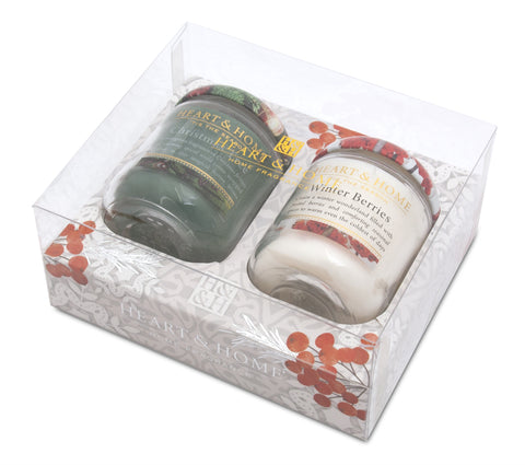 Winter Sm Candle G/Pack 2015 (Xmas Tree/Berries)  - From Heart and Home