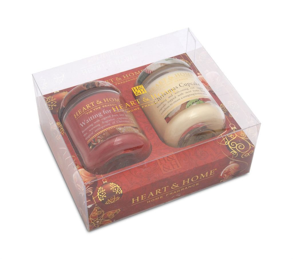 Winter Sm Candle G/Pack 2015 (Santa/Cupcake)  - From Heart and Home