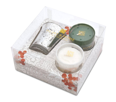 Winter Votive Gift Pack (Xmas Tree/Berries)  - From Heart and Home