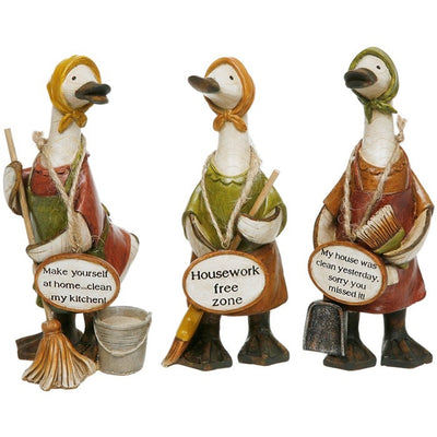 Davids Small Mrs Mop Message Ducks - Set of 3 Designs