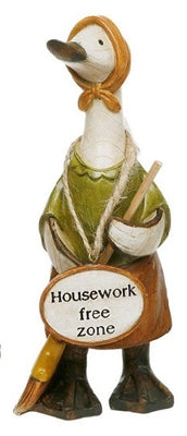 Davids Small Mrs Mop Message Ducks - Housework Free Zone