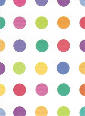 Coloured Spots Gift Tag