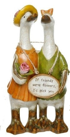 Davids Small Friends Message Ducks - If Friends were Flowers