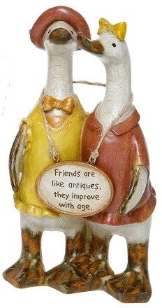 Davids Small Friends Message Ducks - Friends are like Antiques