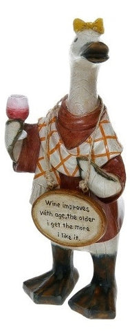 Davids Small Wine loving Message Ducks - Wine improves with Age