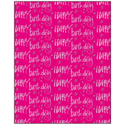Happy Birthday on Pink Gift Wrapping Paper