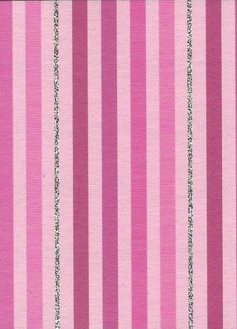 Pink Stripes Gift Tag