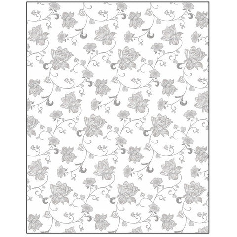 Floral on White Gift Wrapping Paper