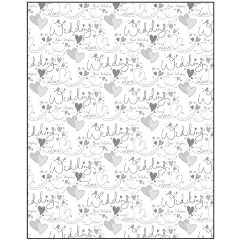 Wedding Text Gift Wrapping Paper