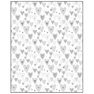 Silver Hearts Gift Wrapping Paper