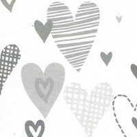 Silver Hearts Gift Tag