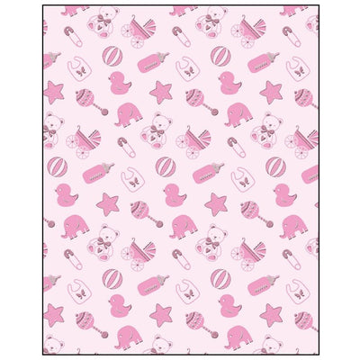 Baby Girl Icons Gift Wrapping Paper