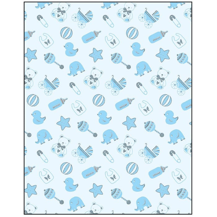 Baby Boy Icons Gift Wrapping Paper Shop4ducks