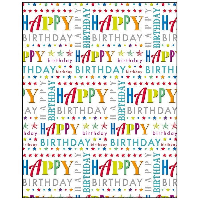 Happy Birthday Text Gift Wrapping Paper