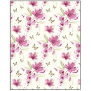Pink Flower on Cream Gift Wrapping Paper
