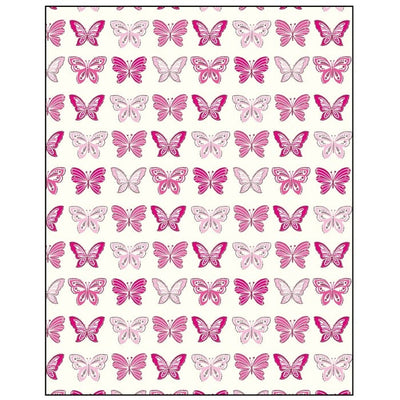 Rows Of Pink Butterflies Gift Wrapping Paper