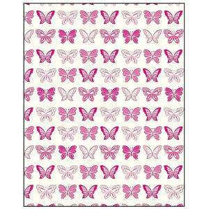 Rows Of Pink Butterflies Gift Tag
