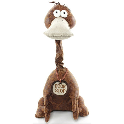 Brown Pals Long Neck Door Stop Duck