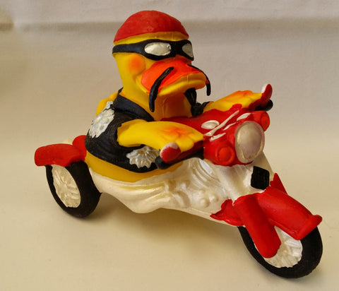 Motorbike Latex Rubber Duck From Lanco Ducks