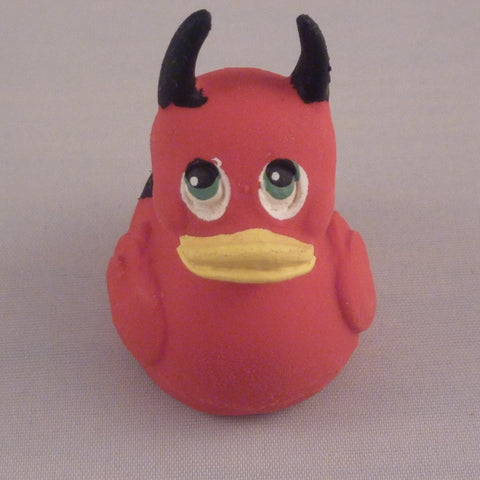 Mini Devil Latex Rubber Duck From Lanco Ducks