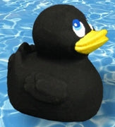 Super XL Latex Rubber Duck black From Lanco Ducks