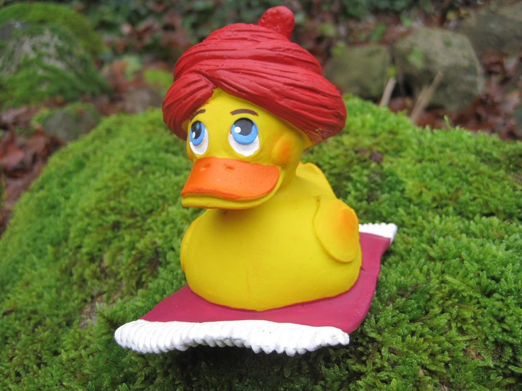 Alibaba Latex Rubber Duck with Turban and Carpet From Lanco Ducks