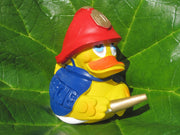 Fireman Fire Latex Rubber Duck From Lanco Ducks