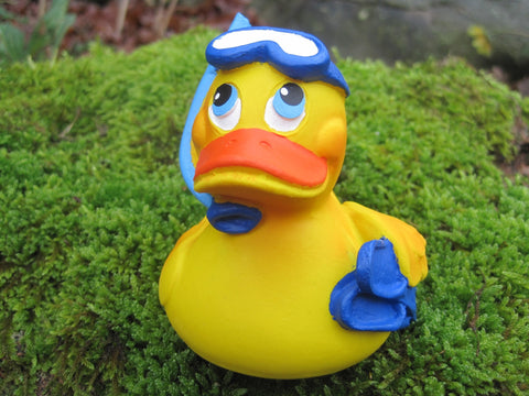 Diving Latex Rubber Duck with Snorkel From Lanco Ducks