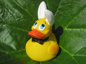 Bunny Latex Rubber Duck From Lanco Ducks