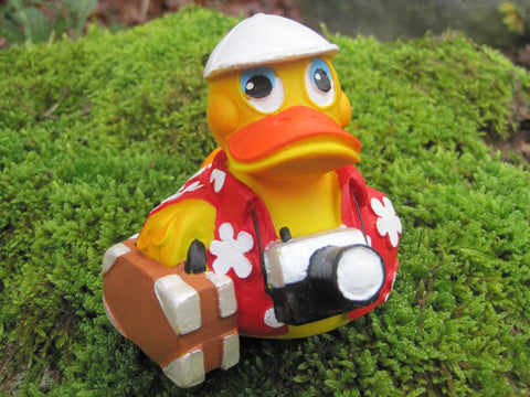 Tourist Holiday Latex Rubber Duck From Lanco Ducks