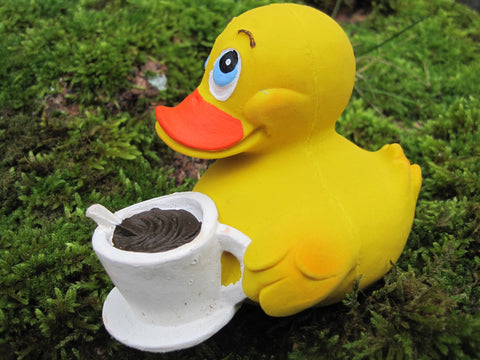 Coffee Latex Rubber Duck From Lanco Ducks