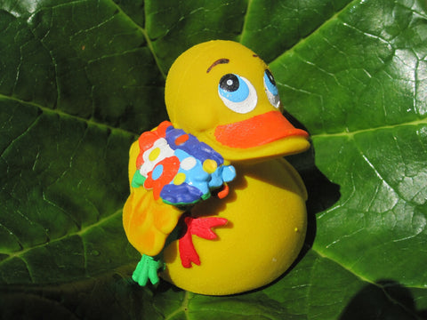 Flower Latex Rubber Duck From Lanco Ducks