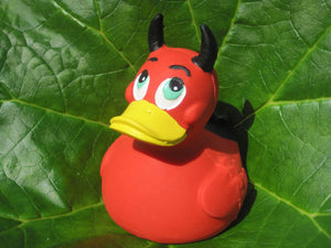 Devil Latex Rubber Duck From Lanco Ducks