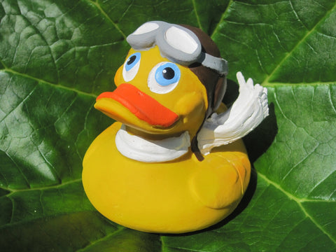 Pilot Latex Rubber Duck From Lanco Ducks