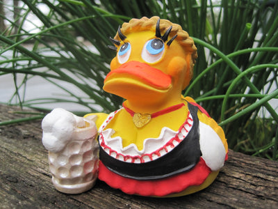 Oktoberfest Latex Rubber Duck - Bavarian Girl From Lanco Ducks