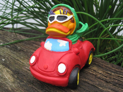 Cabriolet Latex Rubber Duck From Lanco Ducks