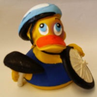 Bicycle Latex Rubber Duck From Lanco Ducks