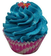 Large Cupcake Bath Fizz - Aqua Fresh 145-185 grams