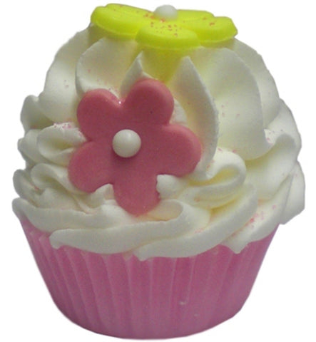 Large Cupcake Bath Fizz - Flower Power 145-185 grams