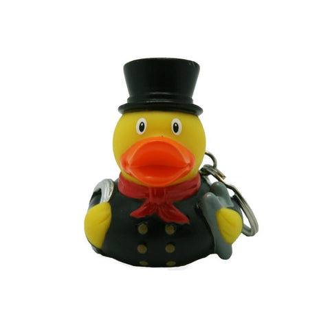 Chimney sweep rubber duck - keyring