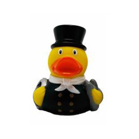 Mini Chimney Sweep rubber duck with white neckerchief