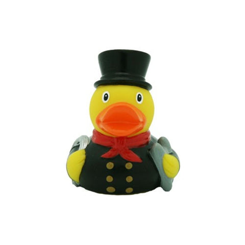 Mini Chimney Sweep rubber duck with red neckerchief