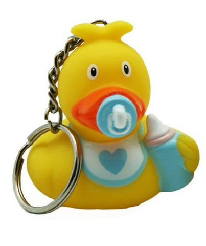 Baby boy rubber duck - keyring