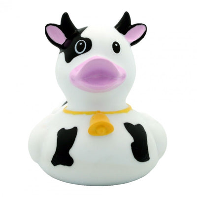 Cow black rubber duck