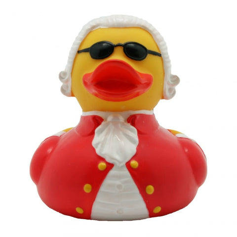 Composer rubber duck with sunglasses