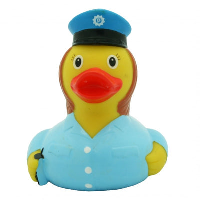 Policewoman rubber duck